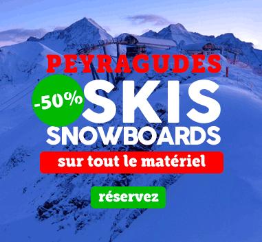 Peyragudes save 50% on ski rental with reservation on line