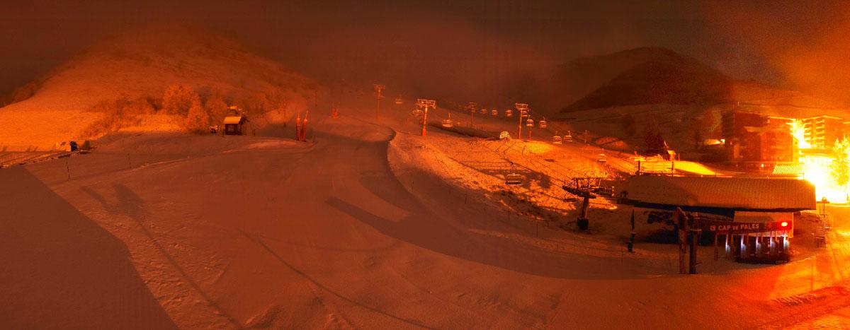 Bas de station de Peyragudes (versant Agudes) le 10 janvier 2020 à 6h00