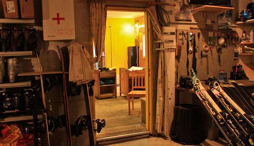 AP Sports -Peyragudes - Vue de l'atelier d'entretien des skis