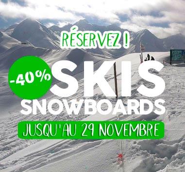 Peyragudes save 40% on ski rental with reservation on line